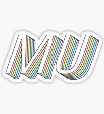 MU 3D rainbow greek letter Sticker