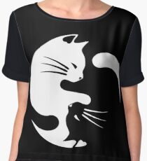 Ying yang cat Chiffon Top