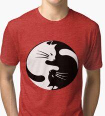Ying yang cat Tri-blend T-Shirt