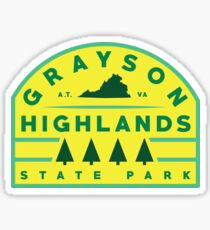 Grayson Highlands State Park stickers Sticker