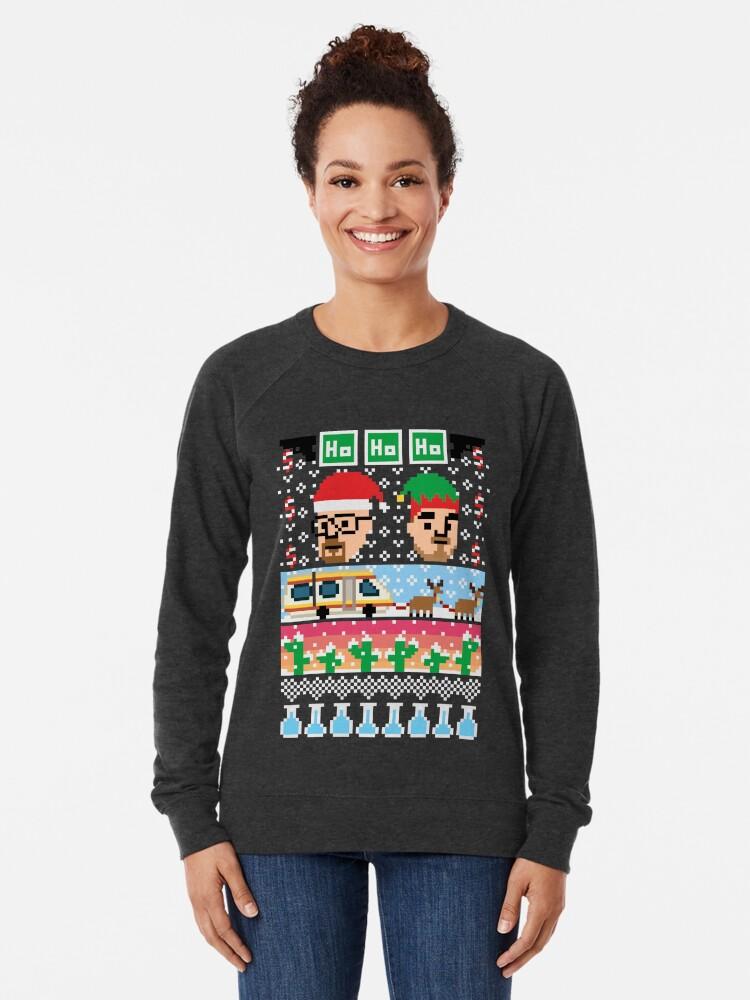 Alternate view of Breaking Christmas - Ugly Christmas Sweater Lightweight Sweatshirt