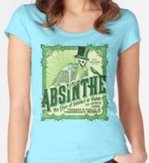 Absinthe Label Fitted Scoop T-Shirt