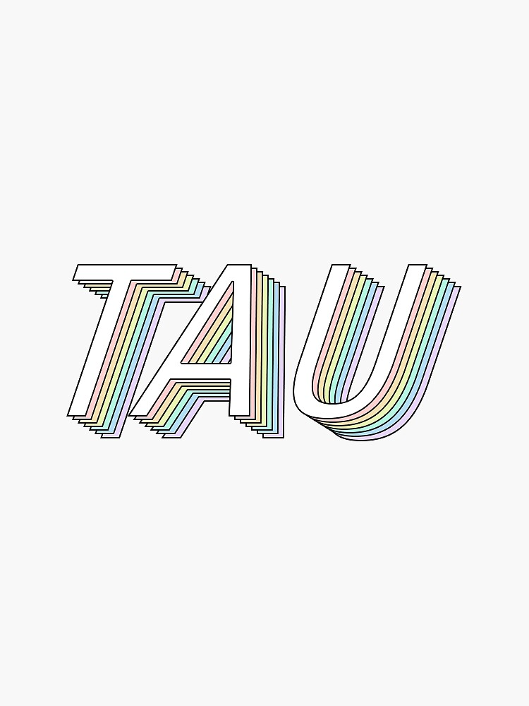 tau 3D rainbow greek letter by hopefuldesigns