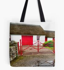 Red gate, near Fanad Head, Donegal, Ireland Tote Bag