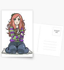 Vivian james and sad puppie Postcards