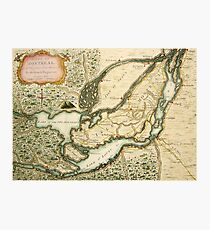 The Isles of Montreal, Canada antique map circa 1761 Photographic Print