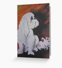 HARVEY oil on canvas Greeting Card