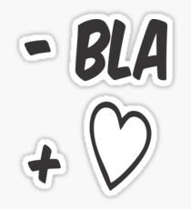 T shirt Bla  Sticker