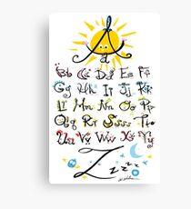 ABC's Canvas Print