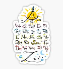 ABC's Sticker