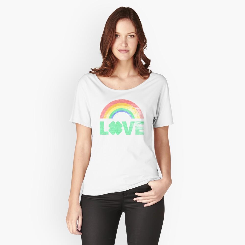 Ye Ole Irish Rainbow Love Women's Relaxed Fit T-Shirt Front