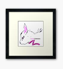 Furry Fuscia Feline Furensics Framed Print