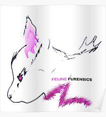 Furry Fuscia Feline Furensics Poster