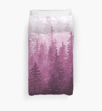 My Misty Secret Forest - magenta Duvet Cover