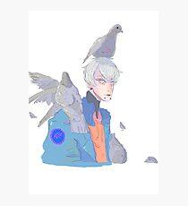 boy with birds Photographic Print