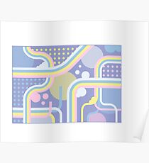 Pretty Patterned Pastel Dreams  Poster