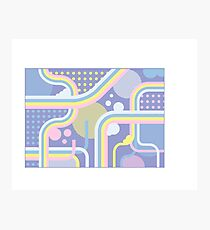 Pretty Patterned Pastel Dreams  Photographic Print