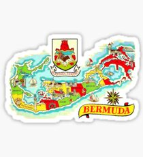 Bermuda Vintage Travel Decal Sticker