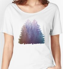 My Misty Secret Forest Pine Trees  Women's Relaxed Fit T-Shirt