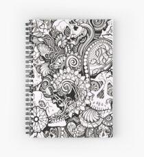 Skulls All Over Spiral Notebook