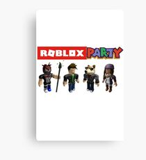 Roblox Party Canvas Print