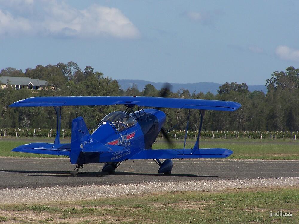 blue plane by jindilass