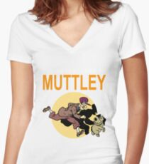 TINTIN MUTTLEY Women's Fitted V-Neck T-Shirt