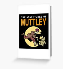 TINTIN MUTTLEY Greeting Card