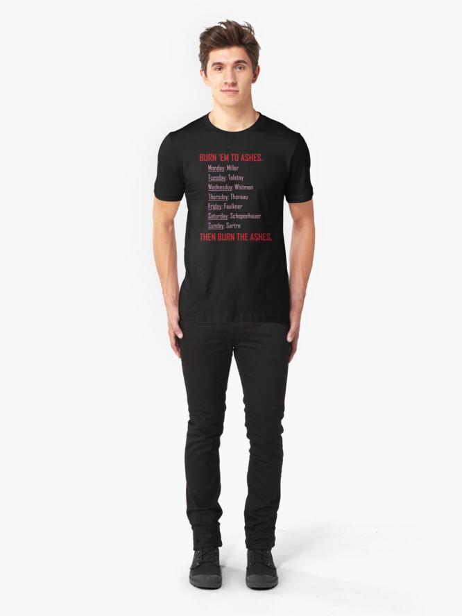 Alternate view of Huxburywell: Manifesto 451 Slim Fit T-Shirt
