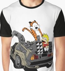 CALVIN AND HOBBES DELOREAN Graphic T-Shirt