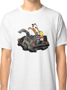 CALVIN AND HOBBES DELOREAN Classic T-Shirt