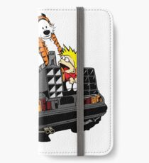 CALVIN AND HOBBES DELOREAN iPhone Wallet/Case/Skin