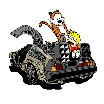 CALVIN AND HOBBES DELOREAN by UnionTee