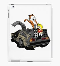 CALVIN AND HOBBES DELOREAN iPad Case/Skin