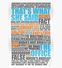 The Office Blue and Orange Poster