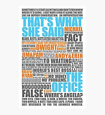 The Office Blue and Orange Photographic Print