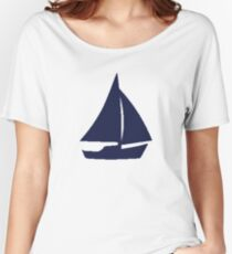 Sailboat (Blue) Women's Relaxed Fit T-Shirt