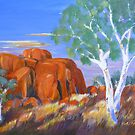 Devils Marbles Northern Territory Morning  by Virginia McGowan
