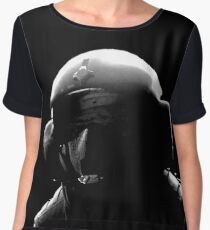 JAGER - Rainbow Six Siege Oil Painting (Black & White) Chiffon Top