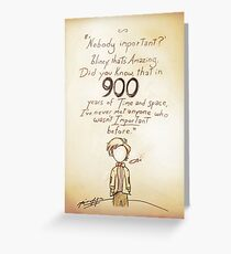 900 Years [A Scribble] Greeting Card