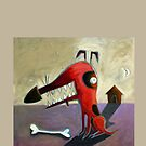 Dog and bone by Neil Elliott