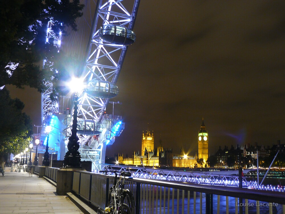 London eye from another viewpoint by Louise Lacante