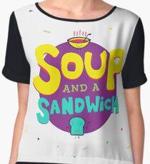 Soup and a Sandwich Chiffon Top