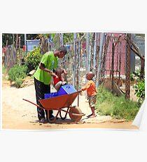 Street Scene, Soweto Poster