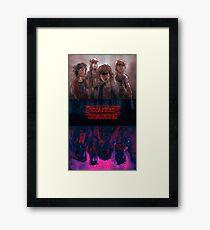 Stranger Dragons Framed Print