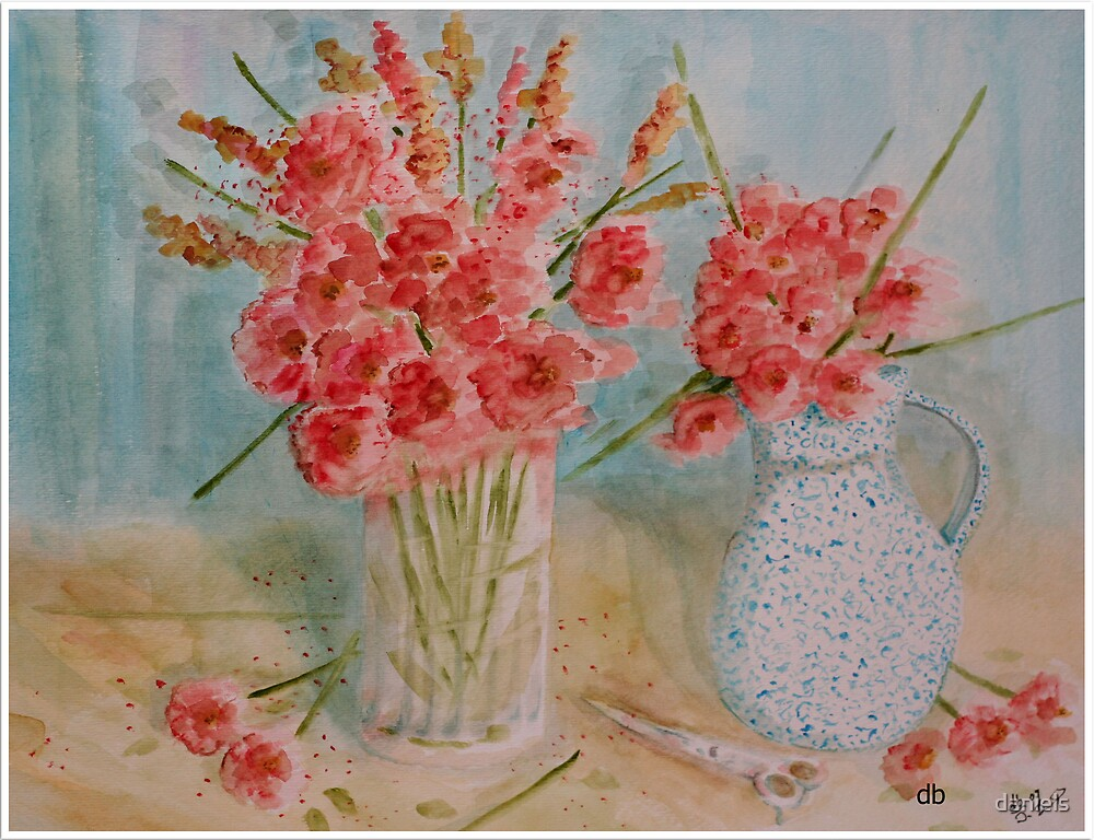 vase & flowers by daniels