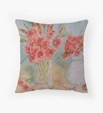 vase & flowers Throw Pillow