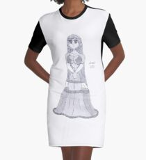 Formal Angel Graphic T-Shirt Dress