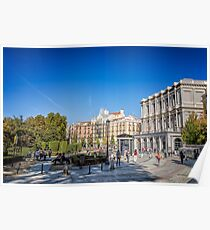 Oriente Square in Madrid Poster