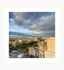 Castellana avenue  Art Print